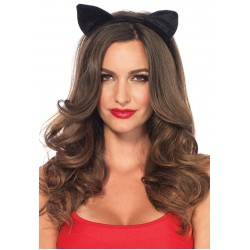 Black Velvet Cat Ear Headband Burlesque Diva Celebrate Burlesque - Costumes, Shoes, and Accessories for Performers