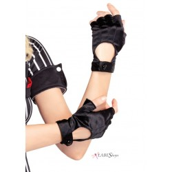 Fingerless Black Motorcycle Gloves Burlesque Diva Celebrate Burlesque - Costumes, Shoes, and Accessories for Performers