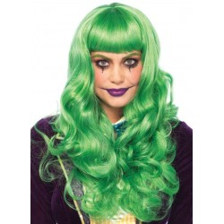Misfit Mayhem Long Green Wavy Wig Burlesque Diva Celebrate Burlesque - Costumes, Shoes, and Accessories for Performers
