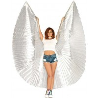 Isis Silver Pleated Festival Wings
