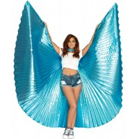 Isis Turquoise Pleated Festival Wings