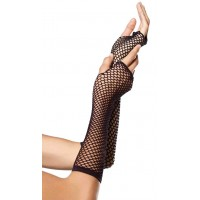 Black Triangle Net Fingerless Gloves