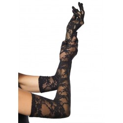 Elegant Black Lace Opera Gloves Burlesque Diva Celebrate Burlesque - Costumes, Shoes, and Accessories for Performers