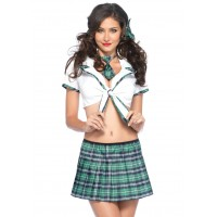 Miss Prep School Womens Green Costume