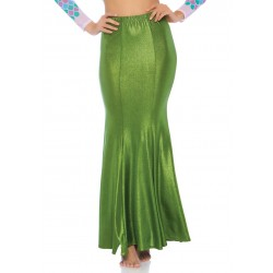 Green Shimmer Spandex Mermaid Skirt Burlesque Diva Celebrate Burlesque - Costumes, Shoes, and Accessories for Performers