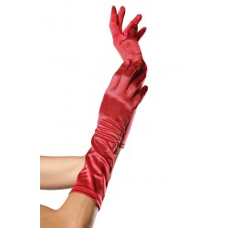 Red Satin Elbow Length Gloves Burlesque Diva Celebrate Burlesque - Costumes, Shoes, and Accessories for Performers