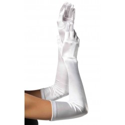 Satin Extra Long White Bridal Opera Gloves Burlesque Diva Celebrate Burlesque - Costumes, Shoes, and Accessories for Performers