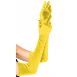 Yellow Satin Extra Long Opera Gloves Burlesque Diva Celebrate Burlesque - Costumes, Shoes, and Accessories for Performers