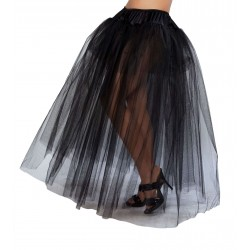 Black Full Length Tulle Skirt Burlesque Diva Celebrate Burlesque - Costumes, Shoes, and Accessories for Performers