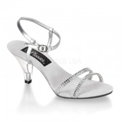 Belle Rhinestone Silver Sandal Burlesque Diva Celebrate Burlesque - Costumes, Shoes, and Accessories for Performers