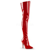 Seduce Red High Heel Thigh High Boots