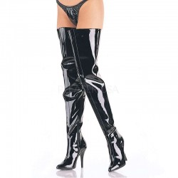 Seduce Black Patent Crotch Boots Burlesque Diva Celebrate Burlesque - Costumes, Shoes, and Accessories for Performers