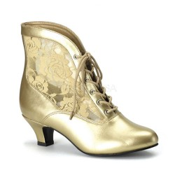 Victorian Dame Gold Ankle Boot Burlesque Diva Celebrate Burlesque - Costumes, Shoes, and Accessories for Performers