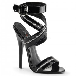 Zippered Domina High Heel Sandal Burlesque Diva Celebrate Burlesque - Costumes, Shoes, and Accessories for Performers