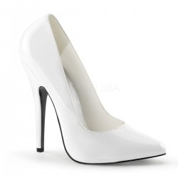 Classic White 6 Inch High Heel Pump Burlesque Diva Celebrate Burlesque - Costumes, Shoes, and Accessories for Performers