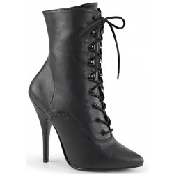Seduce 1020 5 Inch Heel Black Ankle Boot Burlesque Diva Celebrate Burlesque - Costumes, Shoes, and Accessories for Performers