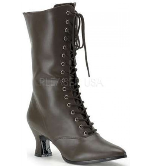 Brown Victorian Ankle Boot at Burlesque Diva, Celebrate Burlesque - Costumes, Shoes, and Accessories for Performers