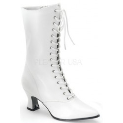 White Victorian Steampunk Ankle Boots Burlesque Diva Celebrate Burlesque - Costumes, Shoes, and Accessories for Performers
