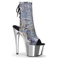 Mermaid Silver Hologram Ankle Boot