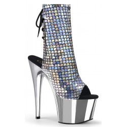 Mermaid Silver Hologram Ankle Boot Burlesque Diva Celebrate Burlesque - Costumes, Shoes, and Accessories for Performers