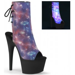 Galaxy Reflective Print Ankle Boot Burlesque Diva Celebrate Burlesque - Costumes, Shoes, and Accessories for Performers