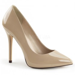 Amuse Cream 5 Inch High Heel Pump Burlesque Diva Celebrate Burlesque - Costumes, Shoes, and Accessories for Performers
