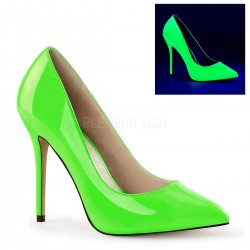 Amuse Neon Green 5 Inch High Heel Pump Burlesque Diva Celebrate Burlesque - Costumes, Shoes, and Accessories for Performers