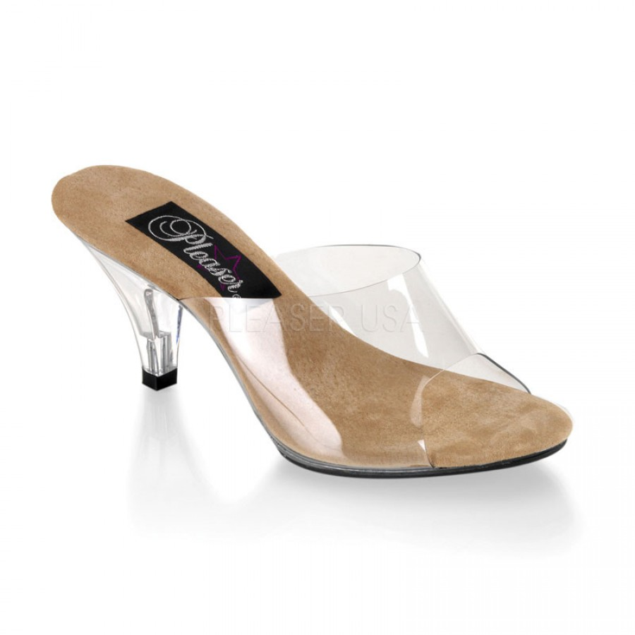 Belle Womens Clear Heel Shoes