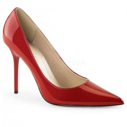 Red Classique Pointed Toe Pump Burlesque Diva Celebrate Burlesque - Costumes, Shoes, and Accessories for Performers