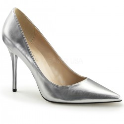 Silver Metallic Classique Pointed Toe Pump Burlesque Diva Celebrate Burlesque - Costumes, Shoes, and Accessories for Performers