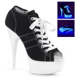 Black High Heel Peep Toe Sneaker at Burlesque Diva, Celebrate Burlesque - Costumes, Shoes, and Accessories for Performers