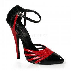 Domino High Heel Red and Black D-Orsay Pump Burlesque Diva Celebrate Burlesque - Costumes, Shoes, and Accessories for Performers