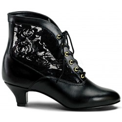 Victorian Dame Black Ankle Boot Burlesque Diva Celebrate Burlesque - Costumes, Shoes, and Accessories for Performers
