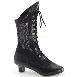 Victorian Dame Black Lace Boot Burlesque Diva Celebrate Burlesque - Costumes, Shoes, and Accessories for Performers
