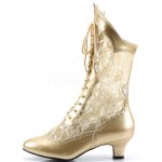 Victorian Dame Gold Lace Boot at Burlesque Diva, Celebrate Burlesque - Costumes, Shoes, and Accessories for Performers