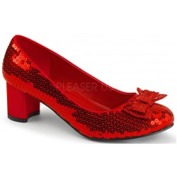 Dorothy Red Sequin 2 Inch Heel Pump Burlesque Diva Celebrate Burlesque - Costumes, Shoes, and Accessories for Performers