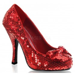 Oz Red Sequin High Heel Pump Burlesque Diva Celebrate Burlesque - Costumes, Shoes, and Accessories for Performers