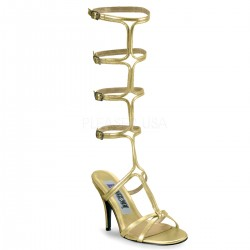 Roman Gold Gladiator Mule Sandal Burlesque Diva Celebrate Burlesque - Costumes, Shoes, and Accessories for Performers