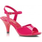 Hot Pink Belle 3 Inch Heel Sandal at Burlesque Diva, Celebrate Burlesque - Costumes, Shoes, and Accessories for Performers
