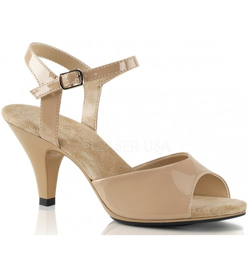 Nude Belle 3 Inch Heel Sandal at Burlesque Diva, Celebrate Burlesque - Costumes, Shoes, and Accessories for Performers