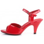 Red Belle 3 Inch Heel Sandal at Burlesque Diva, Celebrate Burlesque - Costumes, Shoes, and Accessories for Performers