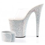 Bejeweled Rhinestone 8 Inch High Platform Sandal at Burlesque Diva, Celebrate Burlesque - Costumes, Shoes, and Accessories for Performers