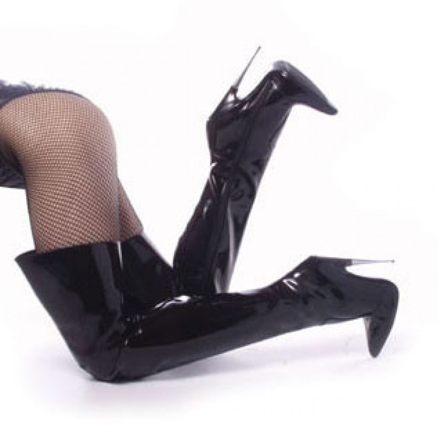 Thigh High Scream Fetish Boots with 6 Inch Heel at Burlesque Diva,  Celebrate Burlesque -