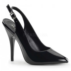 Black Seduce Slingback Pump Burlesque Diva Celebrate Burlesque - Costumes, Shoes, and Accessories for Performers