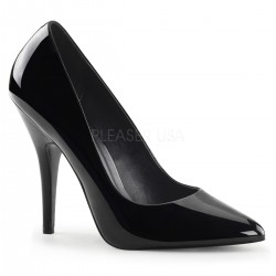 Black 5 Inch Heel Seduce Stiletto Pump Burlesque Diva Celebrate Burlesque - Costumes, Shoes, and Accessories for Performers