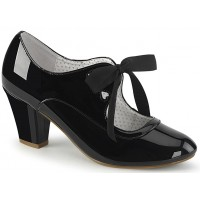 Wiggle Vintage Style Mary Jane Shoe in Black Patent