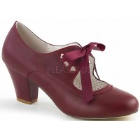Wiggle Vintage Style Mary Jane Shoe in Burgundy