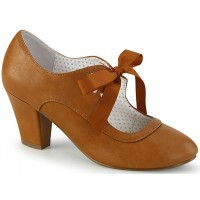Wiggle Vintage Style Mary Jane Shoe in Caramel